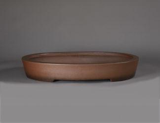 Maceta Bonsai sin esmatar ovalada