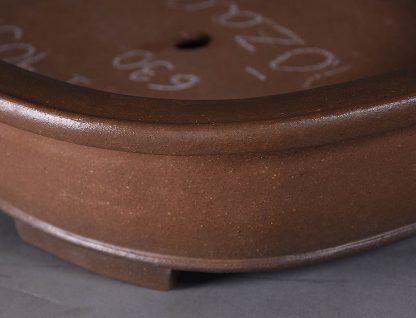 Maceta Bonsai sin esmaltar ovalada