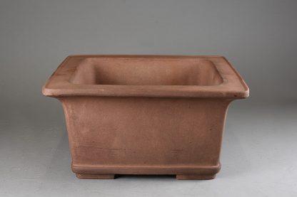 Maceta Bonsai sin esmaltar cuadrada