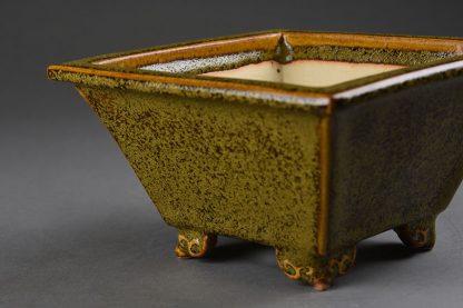Maceta Bonsai esmaltada cuadrada