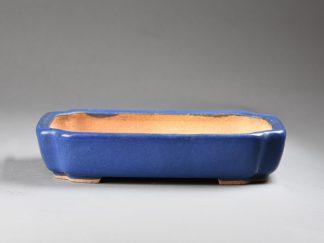 Maceta Bonsai esmaltada rectangular