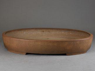Maceta Bonsai sin esmaltar ovalada -  41,8x30,4 x7