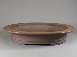 Maceta Bonsai sin esmaltar ovalada - 57,5x48  x11