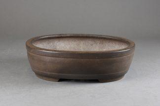 Maceta Bonsai sin esmaltar ovalada - 25,2 x20x7,5