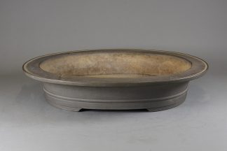 Maceta Bonsai sin esmaltar ovalada 57,2 x47,8 x11